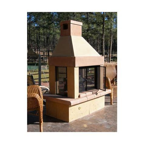 mirage see through wood burning outdoor fireplace