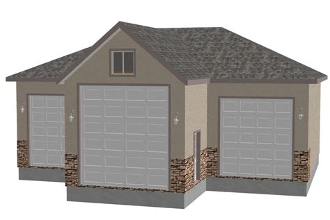 garage planning sdsg409 44 x 44 x 14 rv garage plans blueprints construction documents sds plans