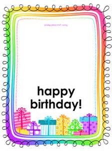 Foldable Birthday Card Template Birthday Card Gifts On White Background Half Fold