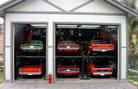 car garage this ultimate mopar garage redefines the six pack street