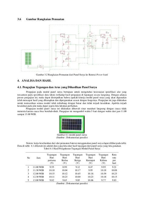 desain database bank studi desain power bank dengan menggunakan panel surya