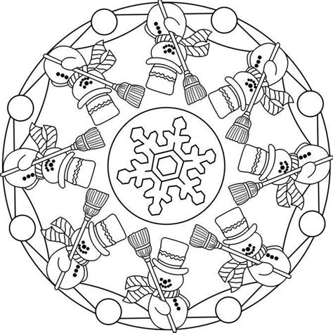 mandala coloring pages winter 92 best mandala winter images on