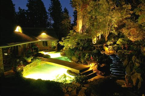 Pond Lighting by Pond Lighting Ideas Landscaping Network