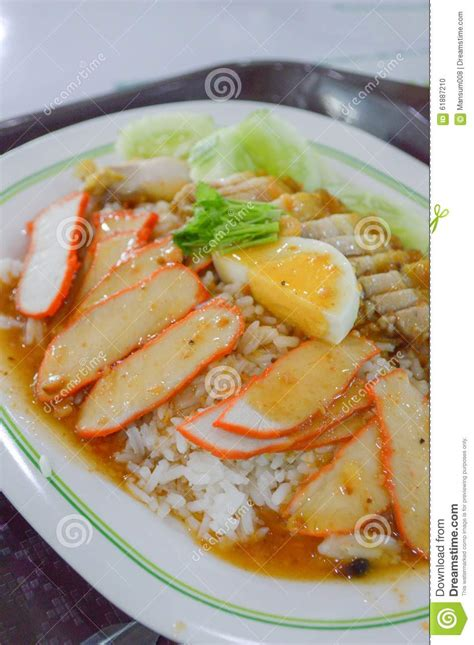 thai better food pork on rice stock photo image 61887210