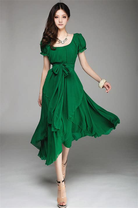 Dress Model New Fashion Impor 4 2015 slim fashion chiffon dress big size