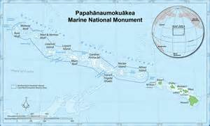 Midway On World Map by Map Of The Papahanaumokuakea Marine National Monument In