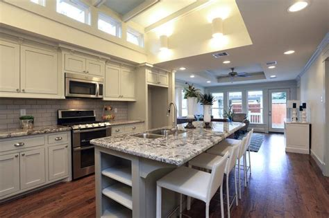 Open Concept Kitchen Designs Heights Bungalow Remodel Craftsman Kitchen Houston