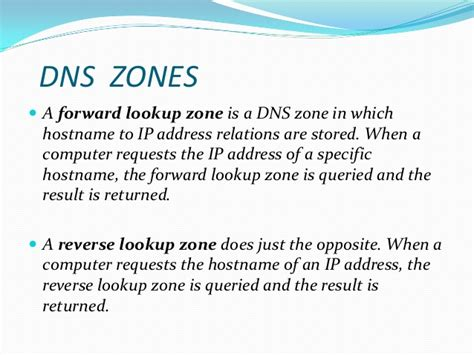 Forward Lookup And Lookup Dns Configuration