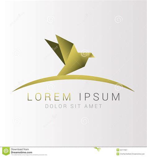 Origami Bird Logo - origami bird logo abstract vector illustration stock