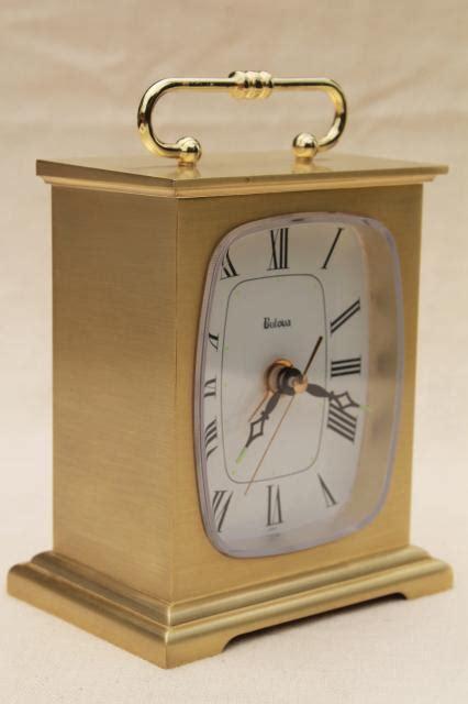 clock made of clocks vintage bulova clock brass case mantel clock movement