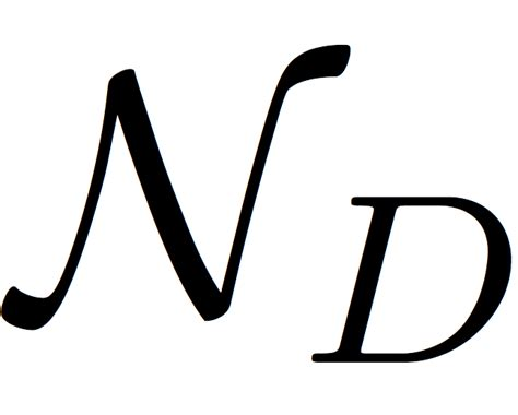 math mode font for the normal sheaf n d of a divisor d