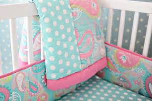 Baby Bedding Sets Pink And Blue Paisley Baby Bedding Paisley Crib Bedding Aqua Baby