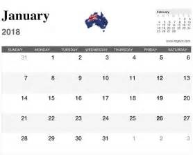 2018 Australian Calendar 2018 Calendar Australia Calendar Template Excel