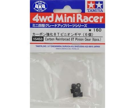 Spare Parts Mini 4wd Carbon Reinforced 8t Pinion Gear 6pcs Tamiya tamiya carbon reinforced pinion gear 8t 6 pz ta15453 modellismo it