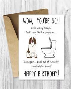 items similar to printable 50th birthday cards