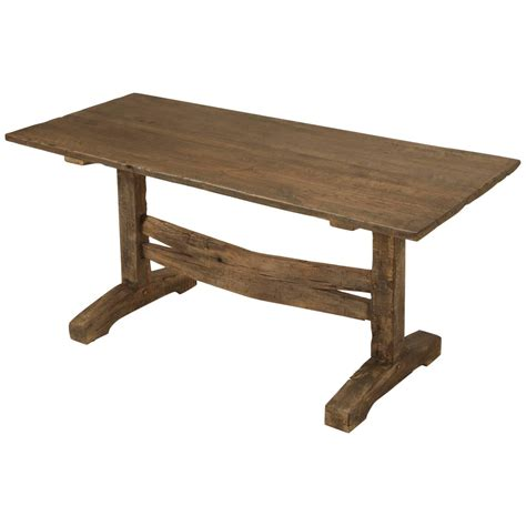 antique trestle dining or kitchen table circa