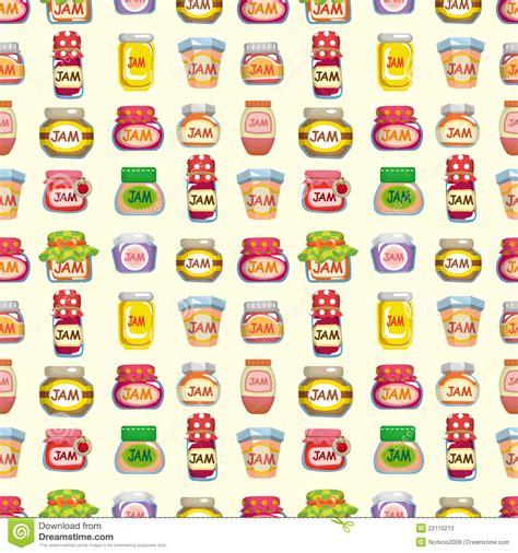 pattern of jam cherry jam seamless pattern vector illustration