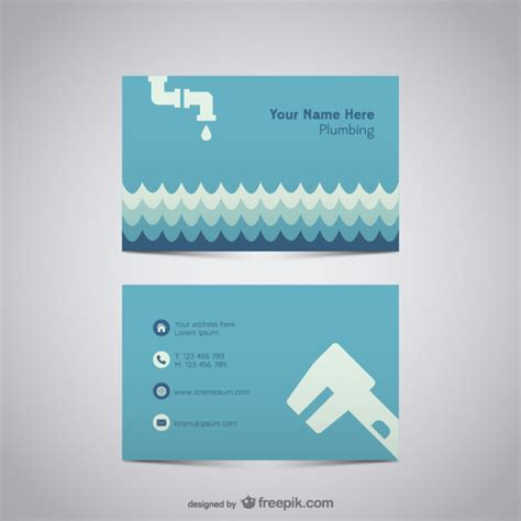 plumber business card templates free plumber business card vector free