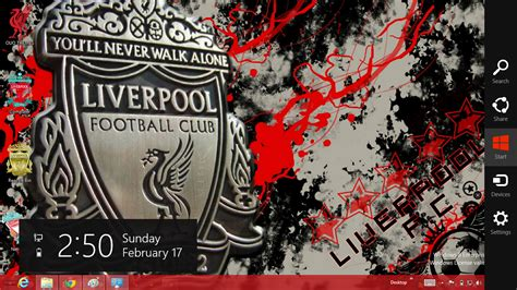 themes pc liverpool liverpool fc windows 7 and windows 8 theme ouo themes