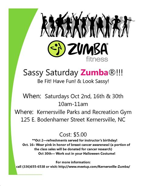 sassy saturday zumba