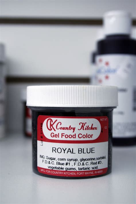 country kitchen cake supplies ck country kitchen gel food color royal blue 4 oz