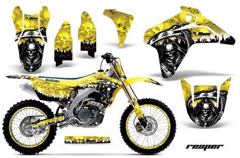 Suzuki Motorcycle Graphics Suzuki Motocross Graphics Kit Suzuki Mx Graphics Sticker