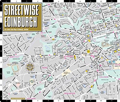 map of edinburgh scotland streetwise edinburgh map laminated city center