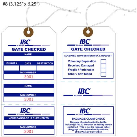 airline luggage tag template custom printed airline hang tags st louis tag