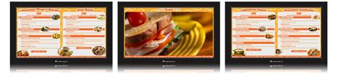 design digital menu board corndigital digital menu board templates
