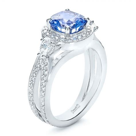custom blue sapphire engagement ring 1432
