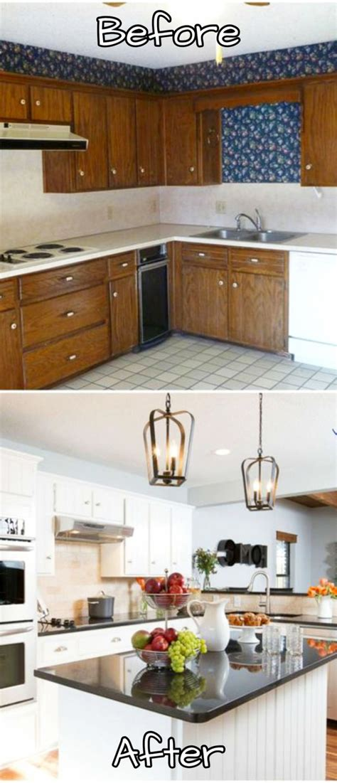 small kitchen makeovers before and after pictures of