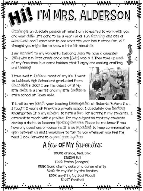 Parent Welcome Letter Template Welcome Letter Rowdy In Room 300