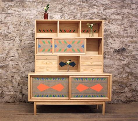 bright and unusual furniture collection digsdigs unusual wooden furniture with bright geometric patterns