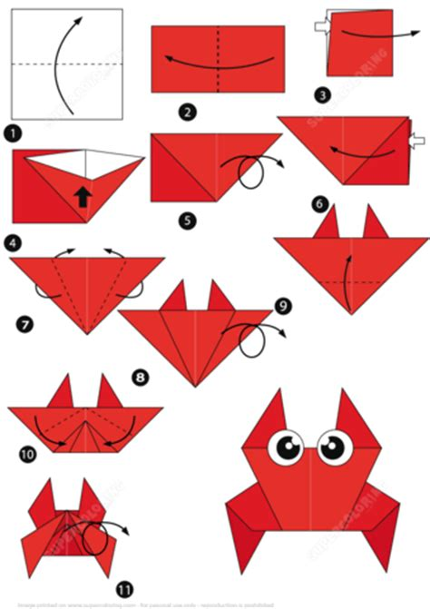 Origami Step By Step - how to make an origami crab step by step