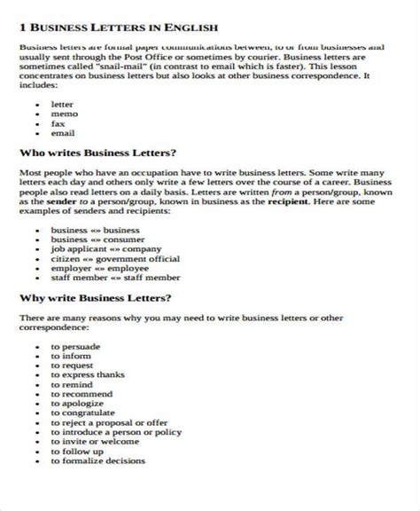 Business Letter Format Via Class Mail business letter format via electronic mail 28 images