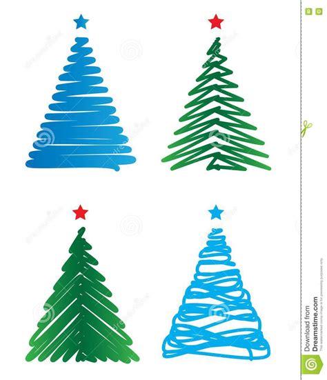stylized christmas trees royalty free stock photos image