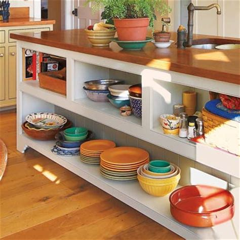 kitchen island shelves warm and inviting open shelves 28 thrifty ways to customize your kitchen this house