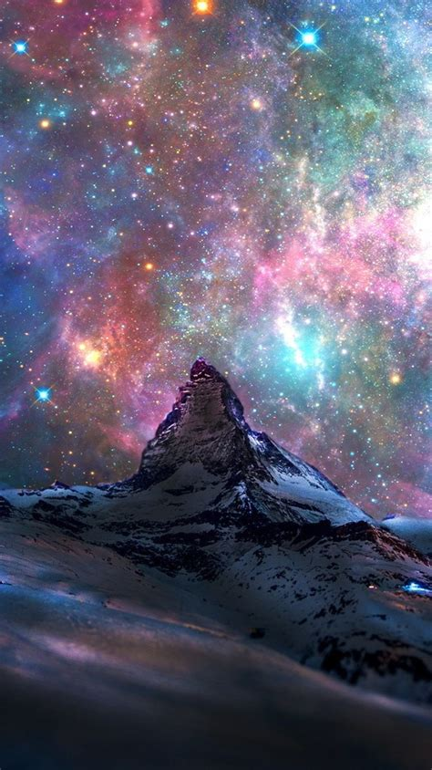 space galaxy view  switzerland mountains iphone wallpaper iphone wallpapers