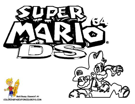 color mario 64 colouring pages page 2