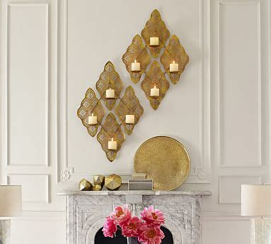 Chandeliers For Maryam by Maryam Wall Mount Pillar Candleholder Pottery Barn
