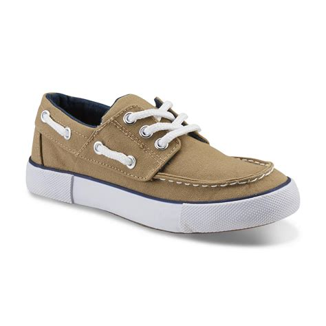 boat shoes online shopping route 66 boy s maddox tan boat shoe shop your way