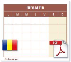 gratuit  romania calendar  calendar imprimabil