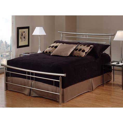 queen spindle bed hillsdale soho queen spindle bed in brushed nickel 1331 500