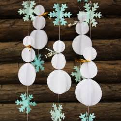 snowman decorations snowflake garland winter party decor