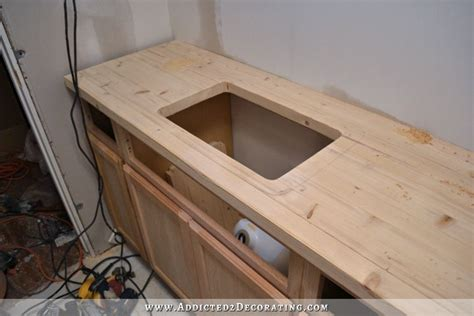 Wood Countertop Review by Bathroom Remodel Build A Counter Out Of Wood Flooring