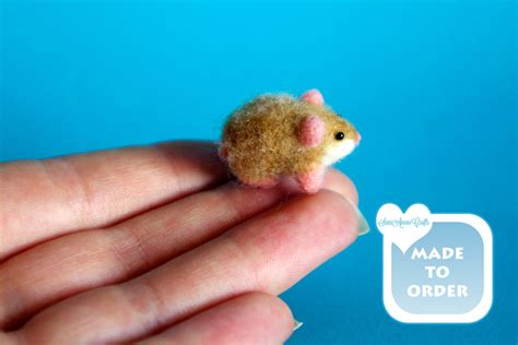 hamster doll house ooak needle felted hamster lemming guinea pig baby doll house