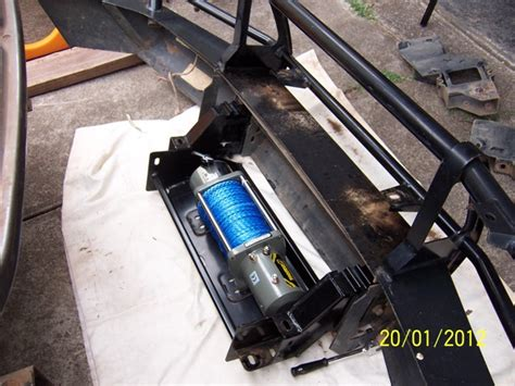 Installing A Bar installing a winch in a non winch bar 4x4earth