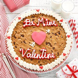 valentines cookie cakes mrs fields be mine cookie cake