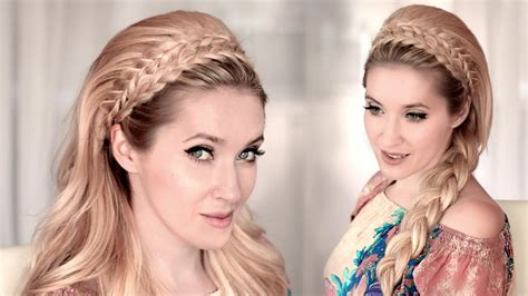 hairstyles of the 60s youtube braided headband hairstyle tutorial for medium long hair