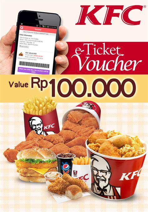 Kfc Value Voucher 100 000 buy kfc voucher value rp 100 000 mulai digunakan tgl 05